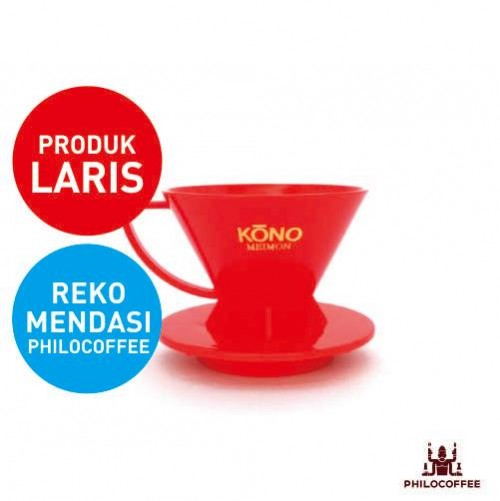 Kono Meimon Coffee Dripper Merah