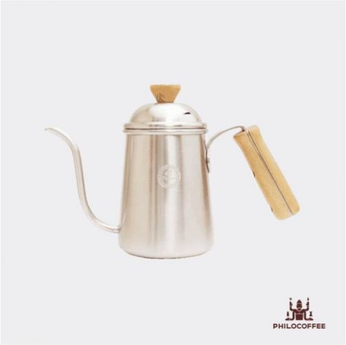 Tiamo Coffee Drip Kettle Wooden Handle